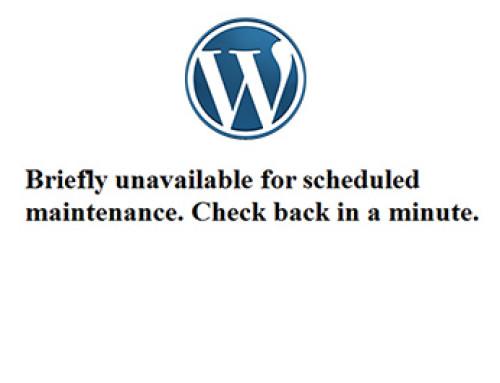 Κόλλησα στο Briefly unavailable for scheduled maintenance!